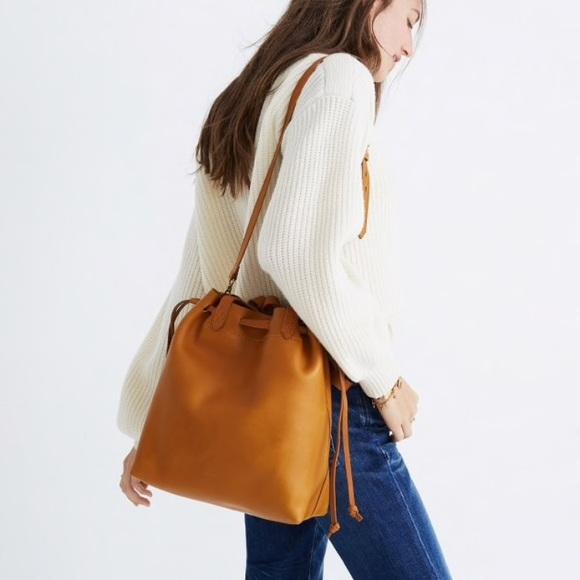 24ce60967435 Madewell Handbags - Madewell medium drawstring transport tote - cider